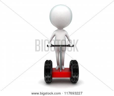 3D Man Driving Two Wheeler Bike Concept