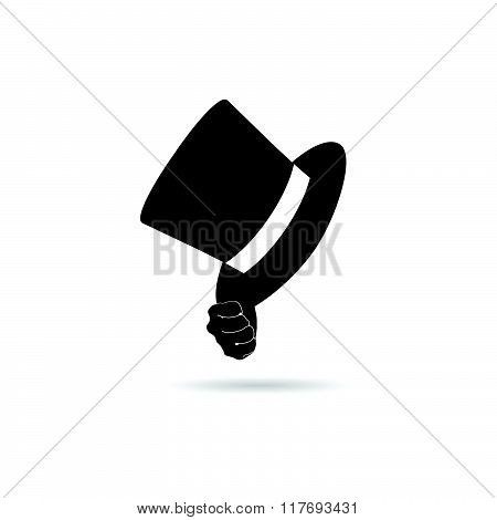 Cylinder Hat In Hand Illustration
