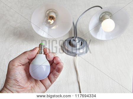 Replacing Incandescent Lamp In Favor Of Led.