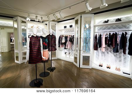 HONG KONG - JANUARY 26, 2016: inside store at Elements Shopping Mall. Elements is a large shopping mall located on 1 Austin Road West, Tsim Sha Tsui, Kowloon, Hong Kong
