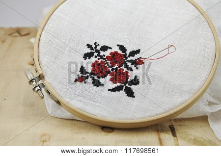 Embroidered Pattern In The Hoop