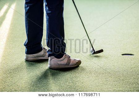 men in the golf club