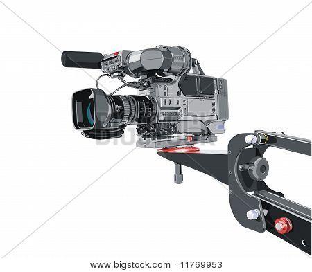 Videocámara DV en grúa