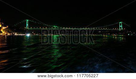 Fatih Sultan Mehmet Bridge In Istanbul, Turkey