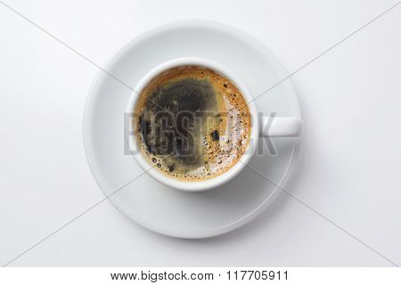 Single Cup Of Coffee With Empty Background