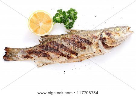Grilled Seabass With Pepper And Lemon