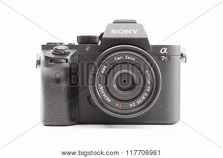 Sony Alpha mirrorless camera with Carl Zeiss lens