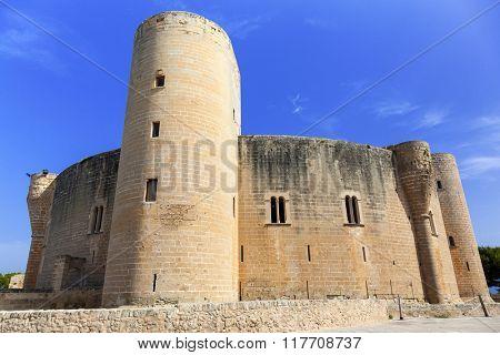 Bellver Castle in Palma the Mallorca island, Spain