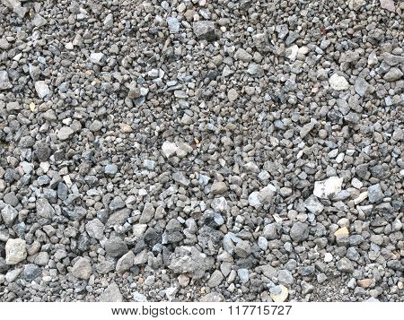 Textured Background Of Pale Crushed Stone