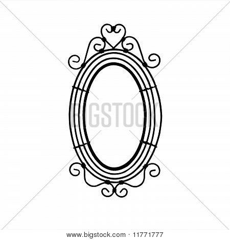 Ornate Frame Silhouette