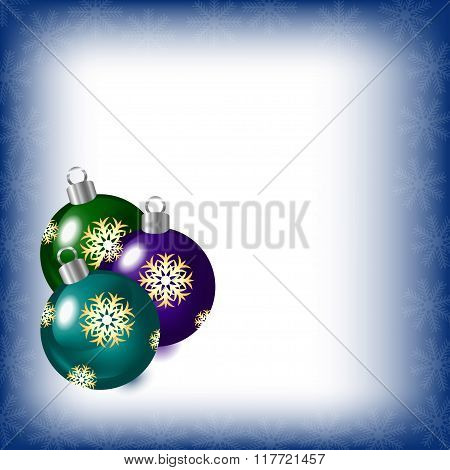Abstract Background With Christmas Tree Balls