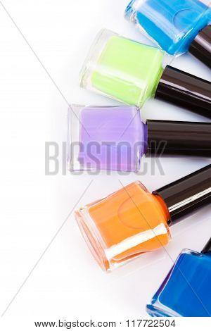 Several Colored Nail Polish