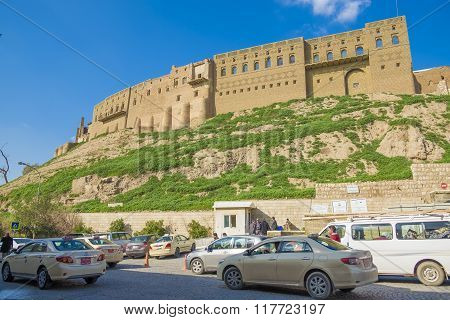 Old Castle In Erbil City,iraq