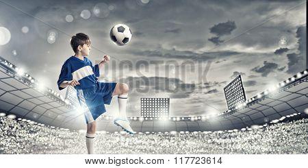 Little football palyer