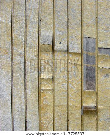 Grunge Peeling Yellow Wood On Timber Background