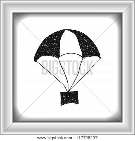Simple Doodle Of A Parachute