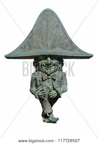 Figure Of Dwarf Enanos - The Patron Saint Of La Palma Island Isolated On White Background