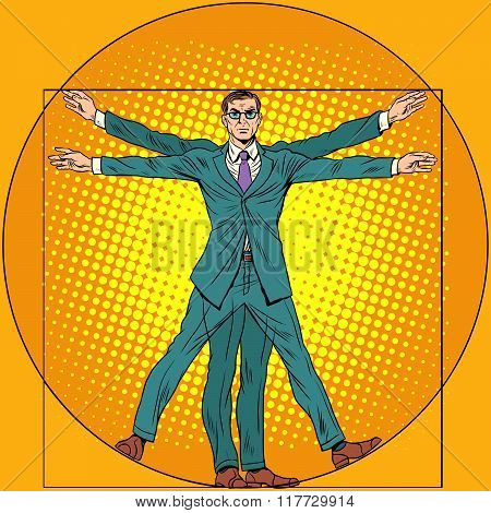 businessman Vitruvian man