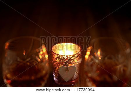 Valentines Day Candlelight Drinks