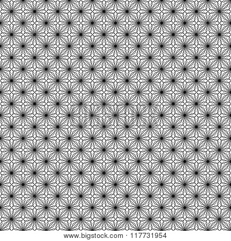 Simple vector seamless black and white background