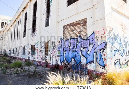 Old Power House: Tagged Exterior