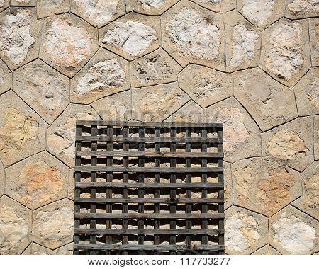 Wooden Door-mat On Cement Floor