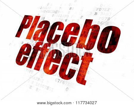 Health concept: Placebo Effect on Digital background