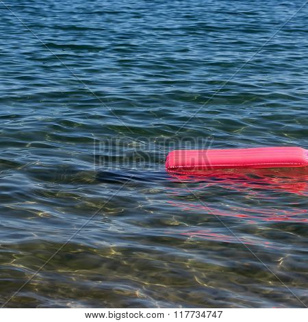One Pink Inflatable Air Bed