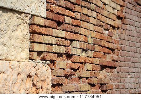 Terracotta Rough Textured Stone Facade