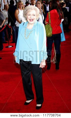 Betty White at the Los Angeles premiere of
