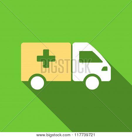 Drug Shipment Flat Long Shadow Square Icon