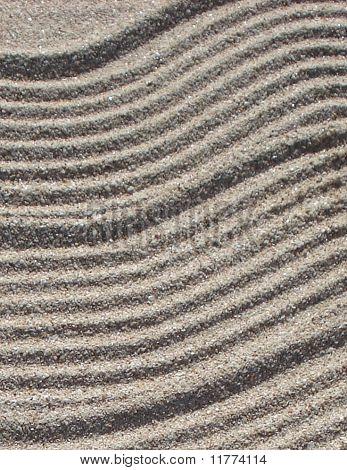 Background of Wavy Beach Sand