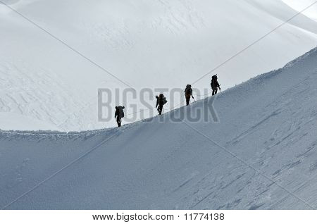Alpinism In Alps