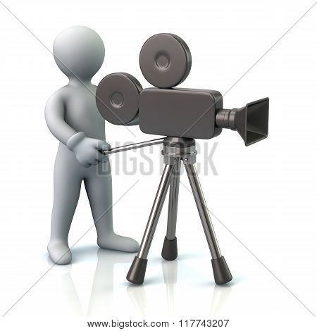Illustration Of Video Camera Operator