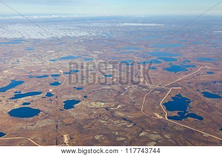 Tundra In Autumn, Top View