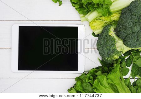 Healthy vegetables on the table