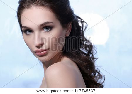 Beauty. Woman with soft skin