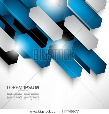 overlapping polygon abstract flat layout design