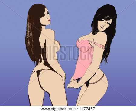 Clip-Art Sexy Hot Model Girl