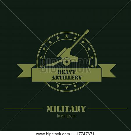 Military and armored vehicles logo and badges. Graphic template