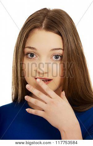 Beautiful surprised teenager.