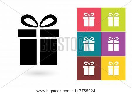 Gift vector icon or gift symbol