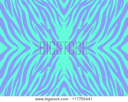 Vector  Illustration  Of Colorfull Abstract  Zebra Print Background .