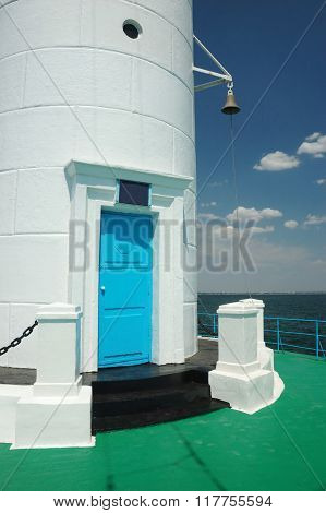 Entrance Door To Old Vorontsov Lighthouse In Odessa Bay, Ukraine,europe