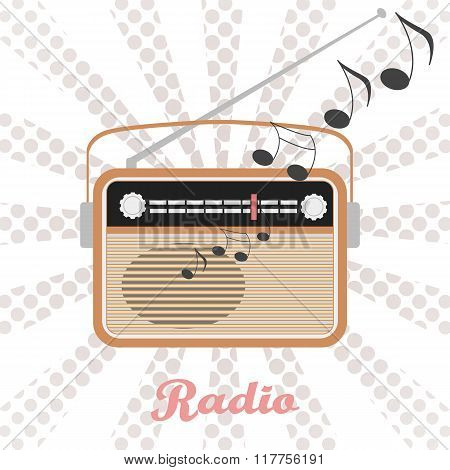 Vector Radio Illustration.
