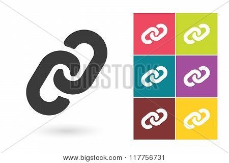 Link vector icon or Chain pictogram