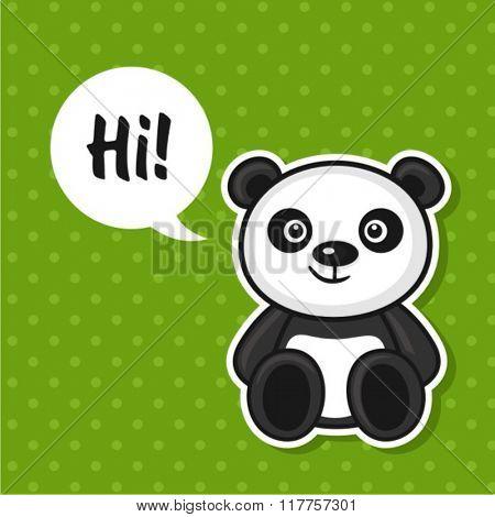 Illustration of cute panda