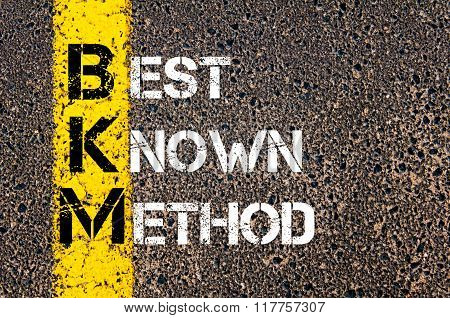 Business Acronym Bkm Best Known Method