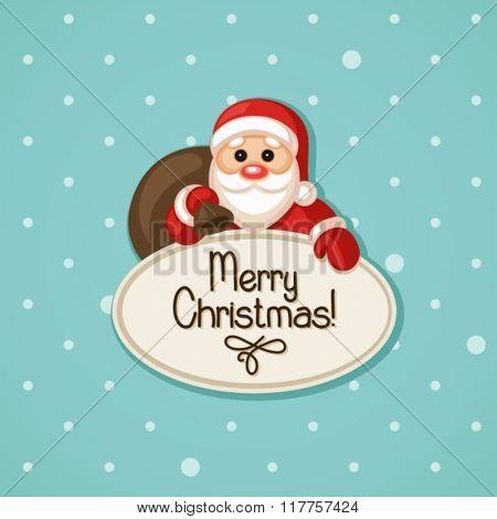 santa with bag of gifts
