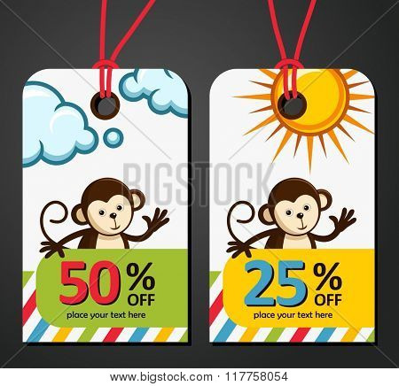 Monkey Big sale background vector